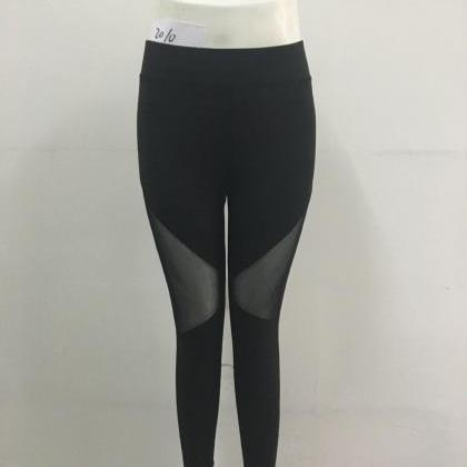 Womens Mesh Black Patchwork Triangl..