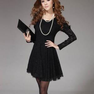 Womens New Dress Long Sleeved Botto..