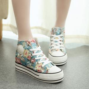 Women's Floral Print High Top Thick..