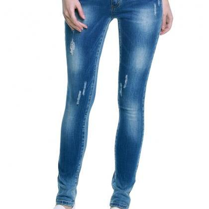 Ladies' Knife-Like Denim Trousers