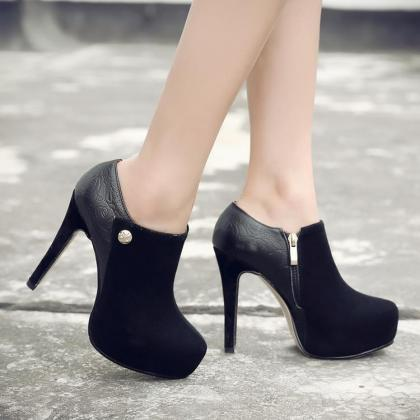 Womens Solid Sexy Platform Pointed ..