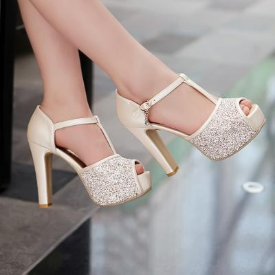 High-Heeled Sandals Fish Head High Heels