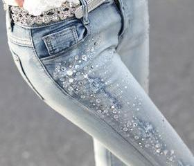 Slim Sequined Pants ..