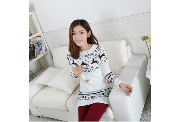 2014 New Fashion Large yard long section rendering package hip retro women fawn Sweater