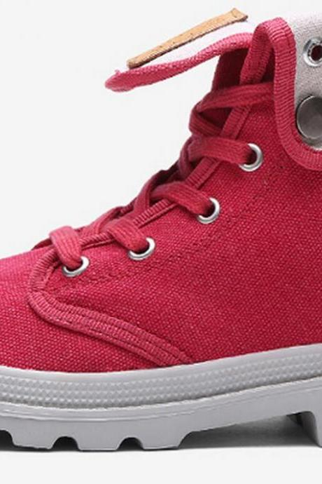 Women's Leisure High Top Canvas Derby