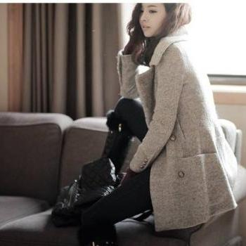 Fashion New woman Warm Wool Coat