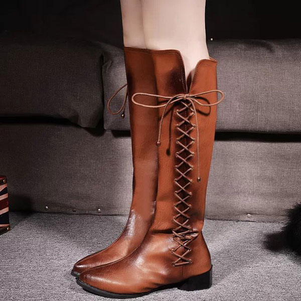 Shoelace Knee Boots/Martin Boots